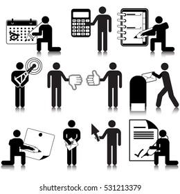 Office Activities Icon Set