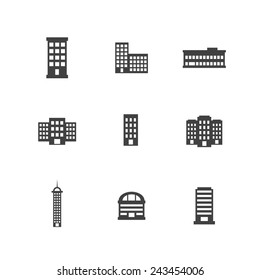 Office Building Bold Icons