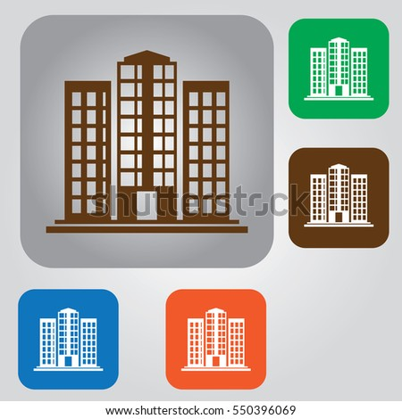 Office Building Icon Business Buildings Flat Stock Vector Royalty