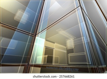 Office building scene,architecture vector background