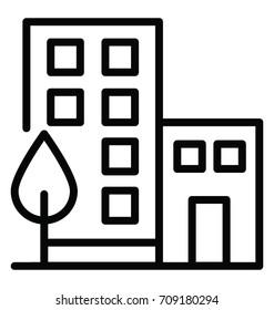 Office Building Vector Icon