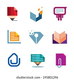 Office business document symbol of entrepreneur creativity logo icon