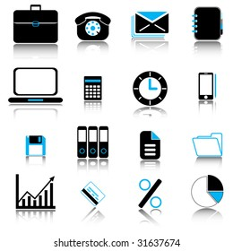 Office & business icons set
