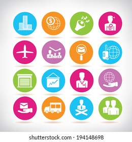 office and business management icons set