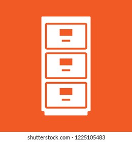 office cabinet icon, stock vector illustration, EPS10.