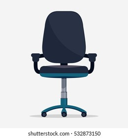 Office chair flat design Vector icon isolated on white