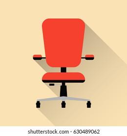 Office chair. Flat design. Vector illustration.