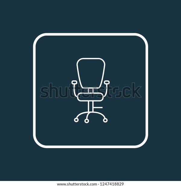 Office chair icon line symbol. Premium quality isolated ergonomic armchair element in trendy style.