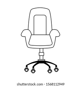 office chair icon over white background, vector illustration