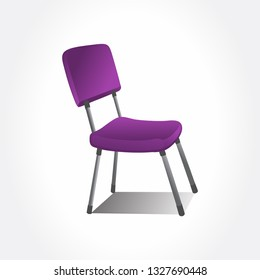 Office chair. Isolated chair. Violet chair.