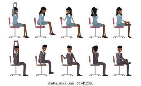 stretching office images stock photos  vectors