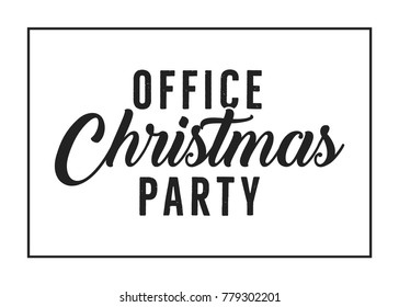Office Christmas Holiday Party Vector Text Background