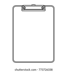 office clipboard clip stationery element blank icon