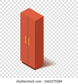 Office closet icon. Isometric illustration of office closet vector icon for web