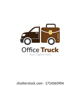 Office Delivery Truck Logo Design