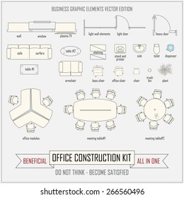 office design and layout construction kit