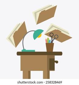 Office design over white background, vector illustration.