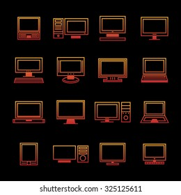 Office device vector set