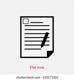 office document icon, vector best flat icon, EPS