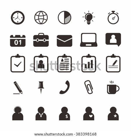 Office Easy Used Edit Stock Vector (Royalty Free) 383398168