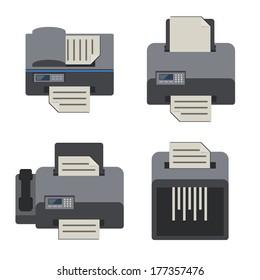 office electronics, Flat icons set.