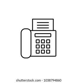 office fax printer machine line vector black icon