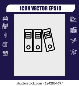 Office folders icon vector