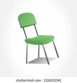 Office green chair. Isolated chair.