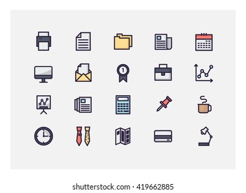 office icon set vector.