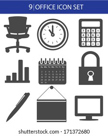 Office icon set,vector