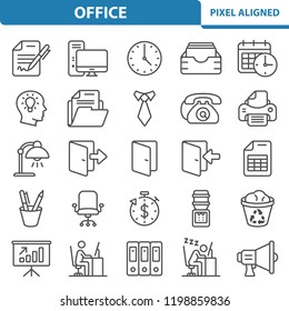 Office Icons. Professional, pixel perfect icons, EPS 10 format.