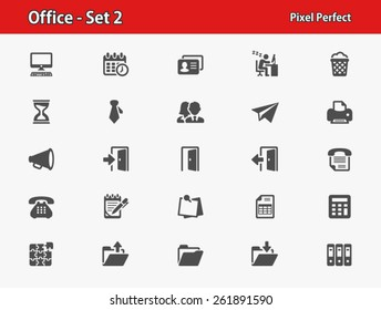 Office Icons. Professional, pixel perfect icons optimized for both large and small resolutions.