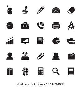 Office icons set. Editable vector 2000x2000 Pixel.