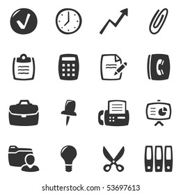 Office icons. Slightly asymmetric and curvy.