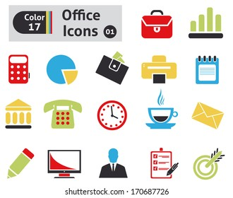 Office icons. Vector set for your design