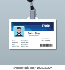 Office ID Badge Design Template