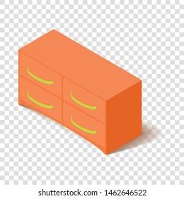 Office locker icon. Isometric illustration of office locker vector icon for web