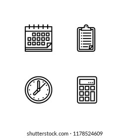 Office maintenance, office wares icon set EPS 10 vector format. Transparent background.