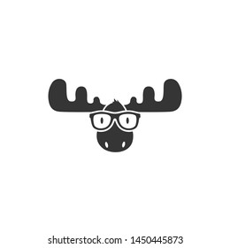 Office Moose Logo Business Moose Elk Deer Animal Wild Hunting Smart Nerd