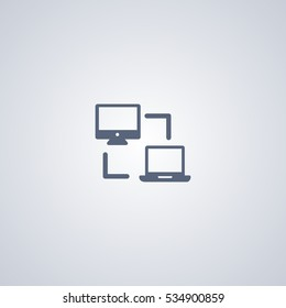 Office network icon, connection icon