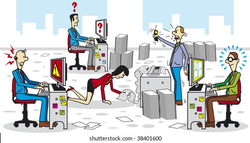 Buro Chaos Stock Illustrations Images Vectors Shutterstock