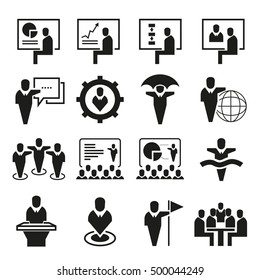 office and organization management icons, business management
