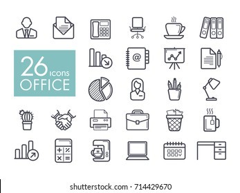 Office outline icon. Office sign. Graph symbol for your web site design, logo, app, UI. Vector illustration