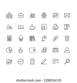 office outline icons set bussines vector line icons web