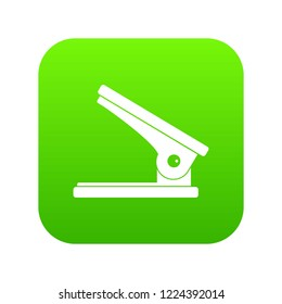 Office paper hole puncher icon digital green for any design isolated on white vector illustration