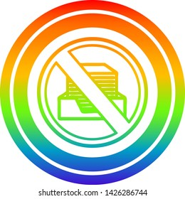office paperless circular icon with rainbow gradient finish