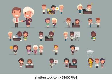 office people working