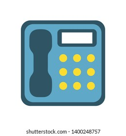 Office phone vector icon. filled flat sign for mobile concept and web design. Telephone handset glyph icon. Symbol, logo illustration. Pixel perfect vector graphics
