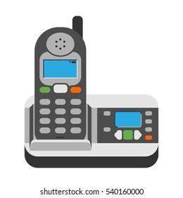 Office phone vector illustration.