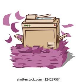 Office printer busy